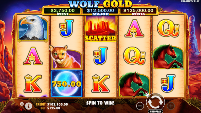 Wolf Gold No Download Slot